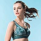 華歌爾-專業系列M-3L運動胸罩(勁力綠)背心式-避震舒適