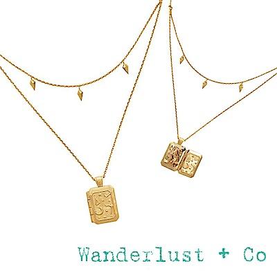 Wanderlust+Co 澳洲品牌 古典銀河星系藏寶盒項鍊 金色雙層項鍊 ZALEA