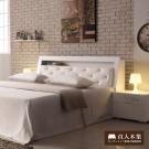 日本直人木業 AVRIL白色簡約收納6尺雙人床組