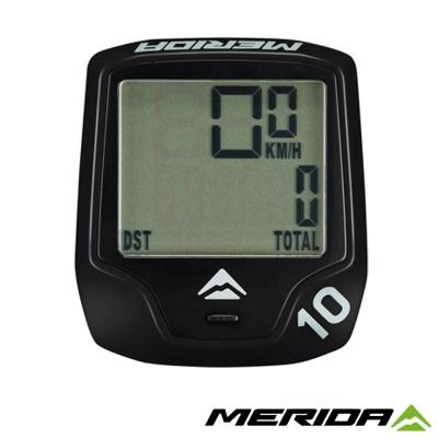 《MERIDA》美利達 無線碼表 10功能 黑 1064