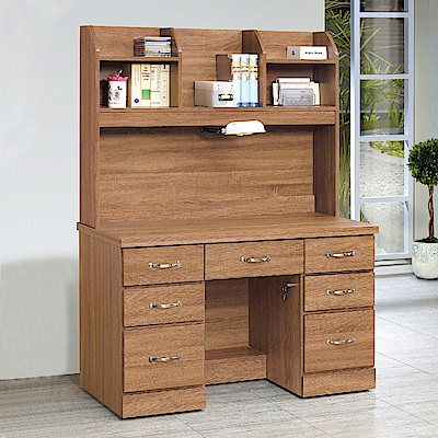 Bernice-貝森4尺書桌(上座+下座)-121x58x166cm