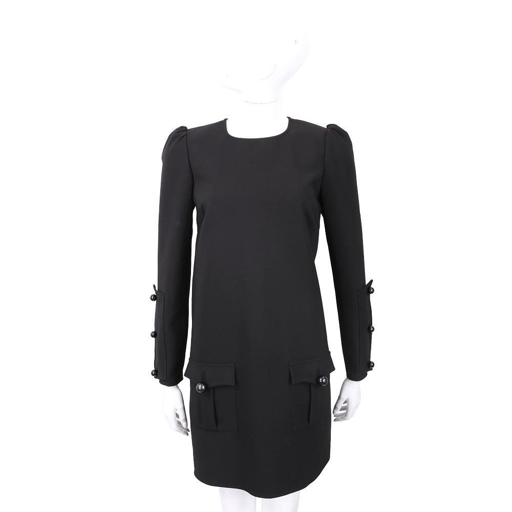 ELISABETTA FRANCHI 裁片排釦細節純色洋裝