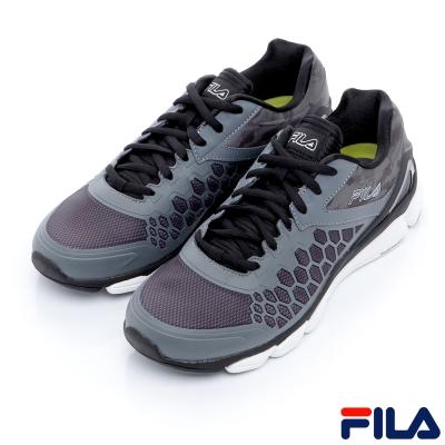 FILA男慢跑鞋-黑/白1-X020R-052