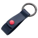 MONDAINE 瑞士國鐵紅點鑰匙圈-藍