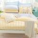 OLIVIA   鵝黃 淺藍  雙人兩用被套床包四件組 素色無印 product thumbnail 1