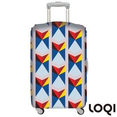 LOQI行李箱套 三角形L號 適用28吋以上行李箱保護套