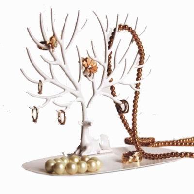 iSFun 鹿角樹枝 創意歐式飾品收納掛架 小號白色25x23x15cm