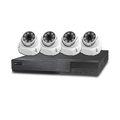 全視線 4路監控錄影主機HS-HA4311+紅外線攝影機MB-AHD83Dx4