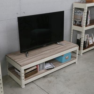 H&D 角鋼美學-工業風免鎖角鋼白色電視櫃-2色