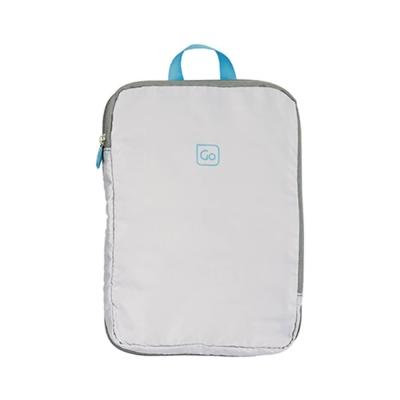 Go Travel 配色衣物收納袋兩件組-淺灰 藍