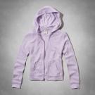 AF a&f Abercrombie & Fitch 女 KID 帽T 紫 0047