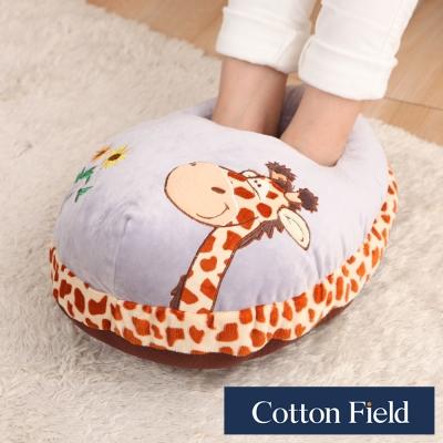 棉花田 長頸鹿 超柔貼布刺繡暖腳枕