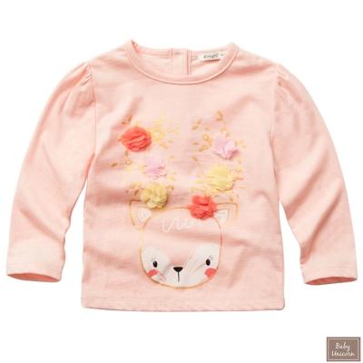 Baby unicorn 小鹿花朵長袖上衣