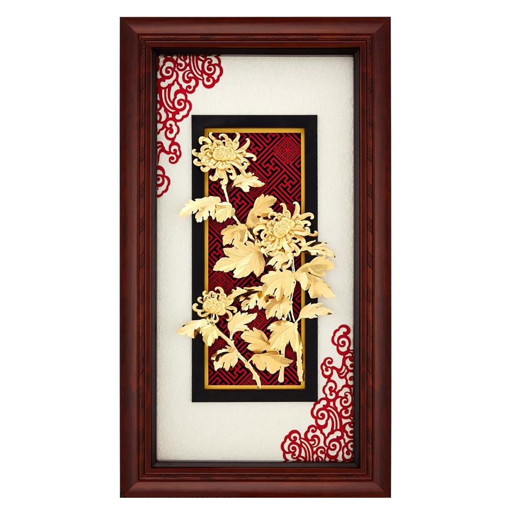 My Gifts-立體金箔畫-欣欣向榮-菊(新禪風系列38x68cm)