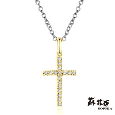 蘇菲亞SOPHIA 鑽鍊 - 十字架造型黃K鑽鍊
