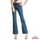 BRAPPERS 新美腳Royal系列-女用天絲棉寬版大喇叭褲-藍