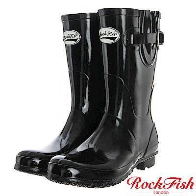 ROCKFISH 俏麗典雅短筒雨靴 繽粉系列 時尚黑