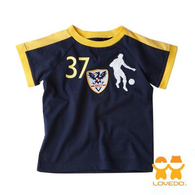 【LOVEDO-艾唯多童裝】運動潮流 巨龍足球短袖T恤