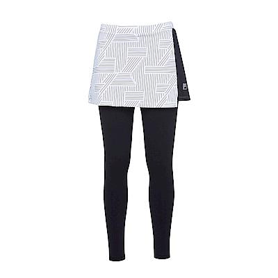 FILA 女萊卡針織裙褲-白5PNS-1607-WT