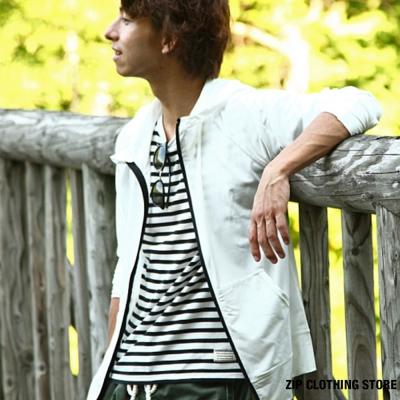機能款素面防曬外套 ZIP日本男裝