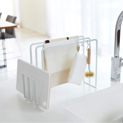 【YAMAZAKI】Plate砧板抹布架★砧板架/清潔工具架/廚房收納/毛巾架