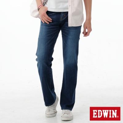 EDWIN-中直筒-503-ZERO無接縫牛仔褲-男-拔洗藍