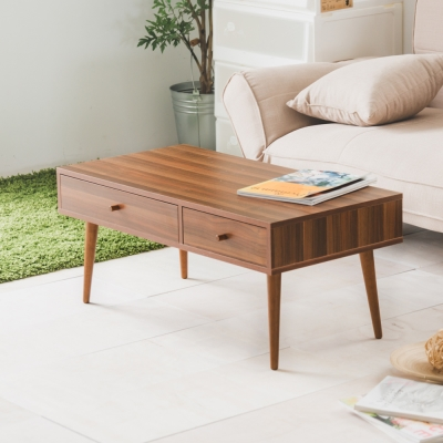 Home Feeling 茶几桌/和室桌/咖啡桌/雙抽-90x45x39cm