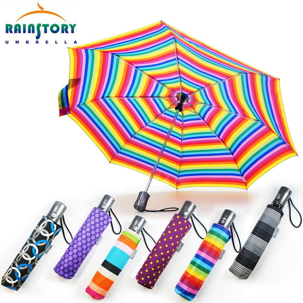 Rainstory晴雨兩用自動傘(顏色隨機)
