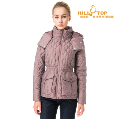 【hilltop山頂鳥】女款超撥水蓄熱羽絨外套F22FW9暗紅