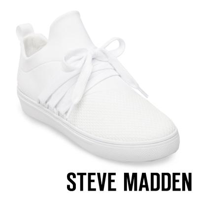 STEVE MADDEN-LANCER 網布拼接綁帶休閒鞋-白色