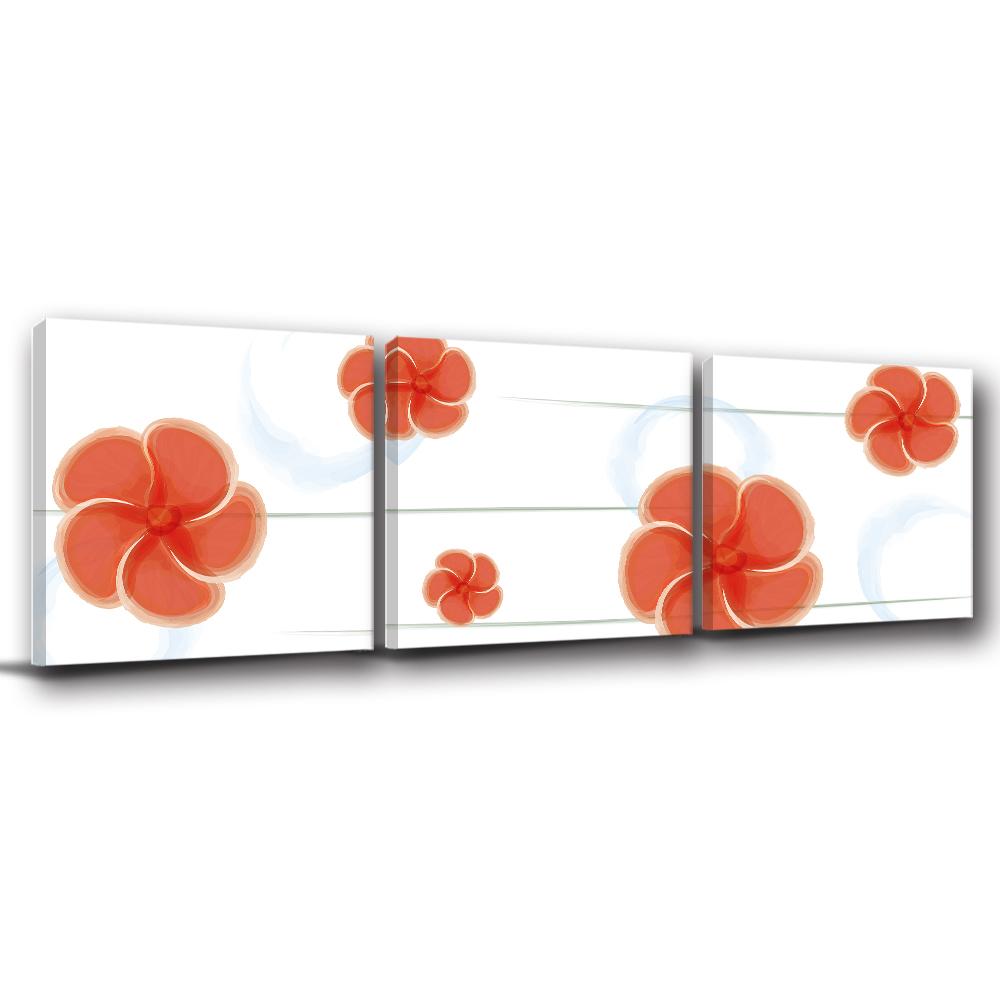 123點點貼- 三聯式壁貼重覆黏貼窗貼無痕不殘膠-桐落芬芳30*30cm
