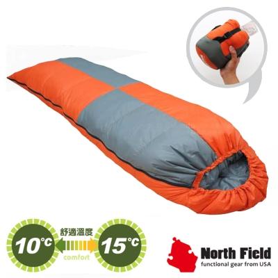 【美國 North Field】杜邦Tactel 頂級白羽絨睡袋300g_岩橘