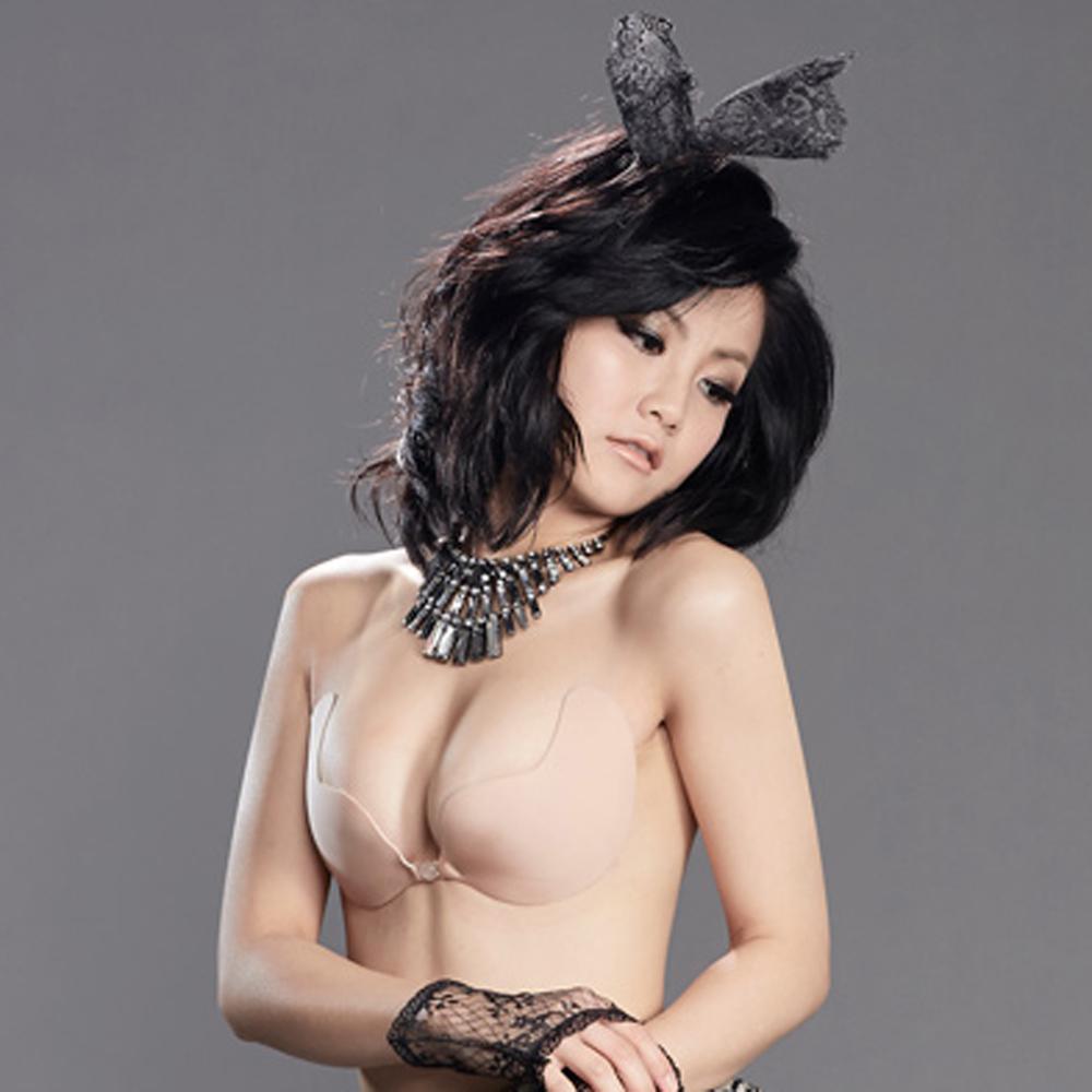【Show Bra】水滴型/花瓣型  隱形胸罩 珠光面-金