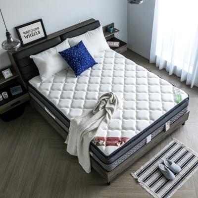 H&D 波斯系列-舒柔四線乳膠透氣獨立筒床墊-雙人加大6尺