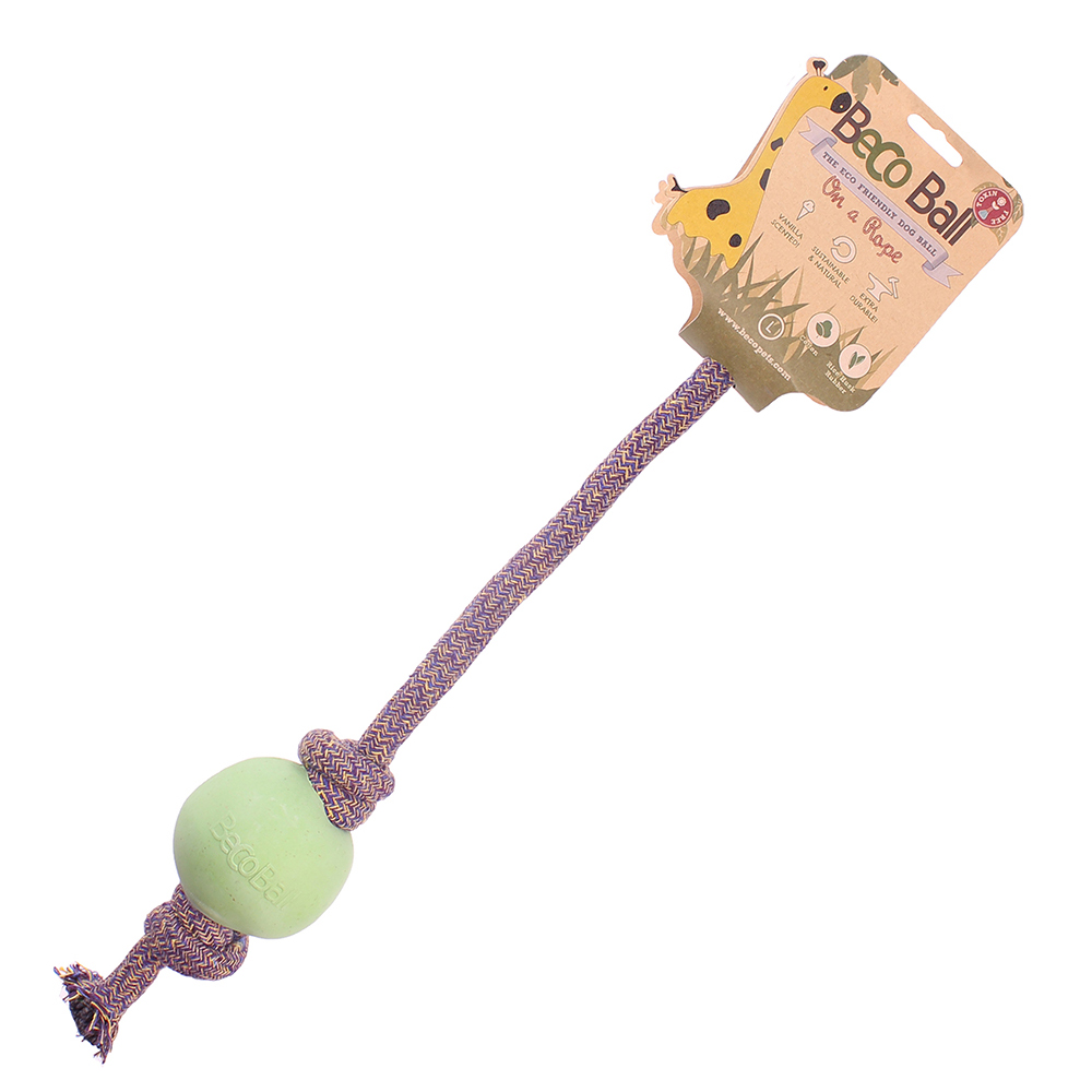 Beco Pet 馬卡龍環保繩球(S)-粉綠