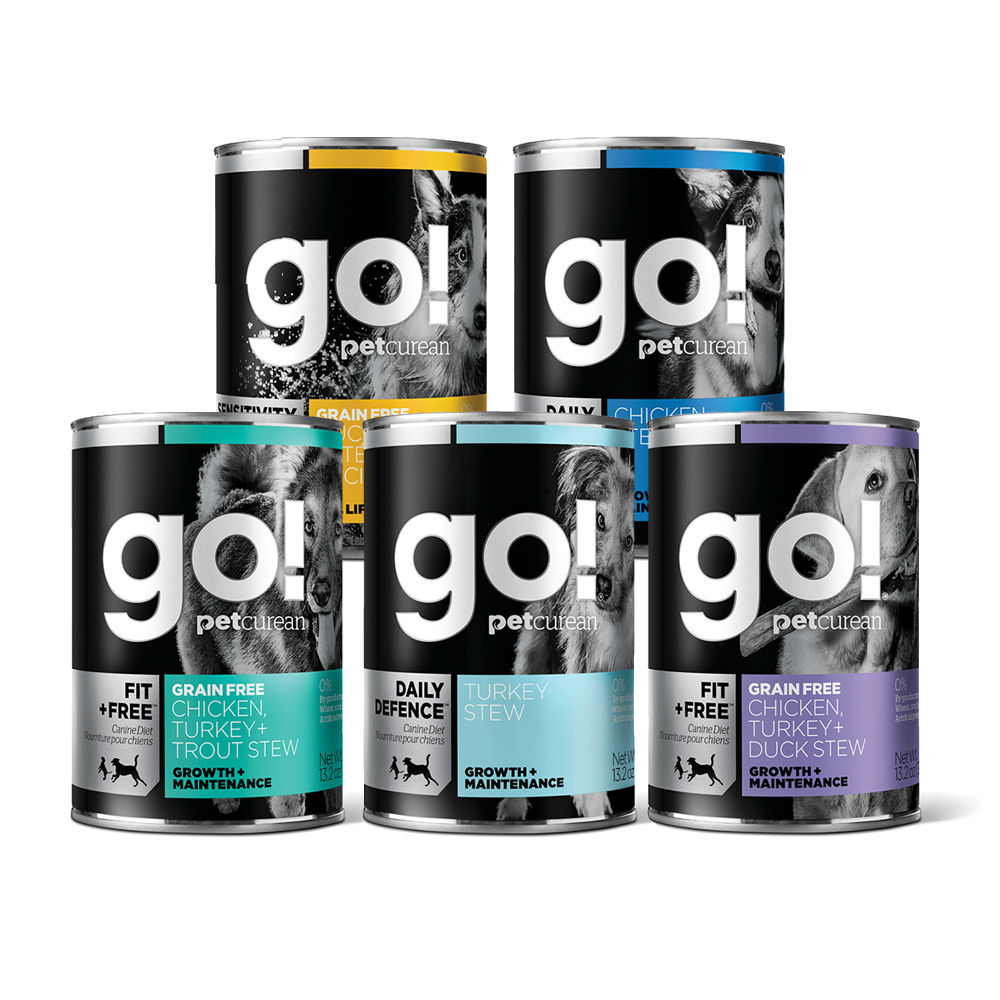Go! 天然主食狗罐-五口味-12件組