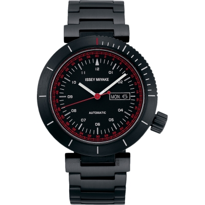ISSEY MIYAKE  W系列限定機械錶(NYAE 701 Y)-黑/ 45 mm