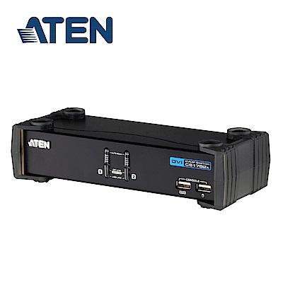 ATEN 2埠 USB DVI KVMP? 多電腦切換器(CS1762A)