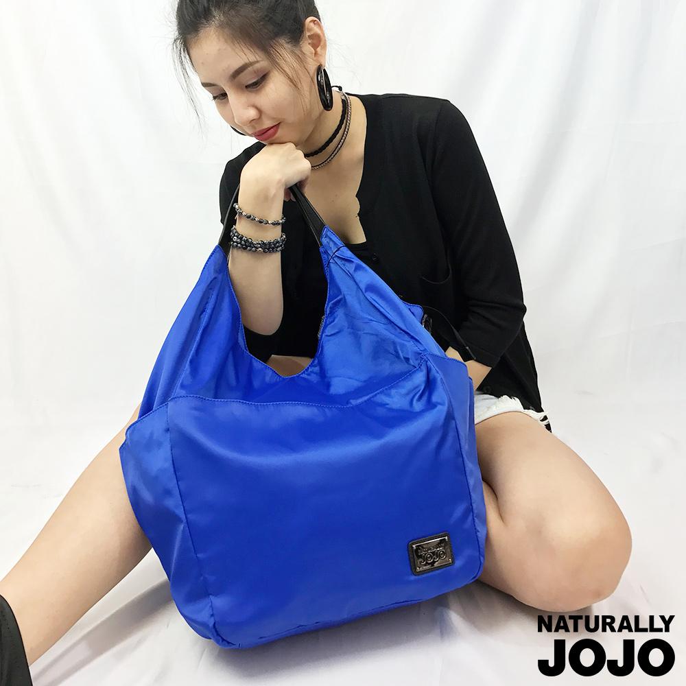 NATURALLY JOJO 尼龍前口袋大型軟包(藍)
