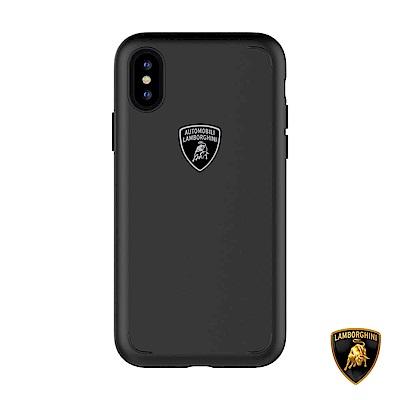 iPhone X 藍寶堅尼Gallardo系列防摔保護殼 - 低調黑