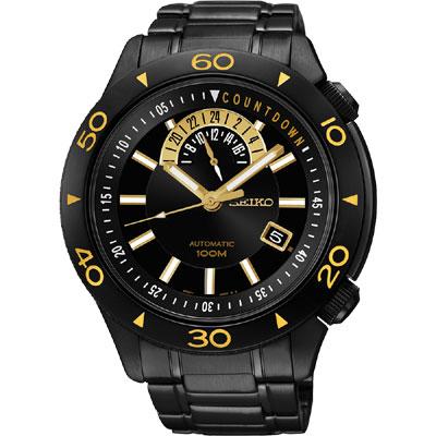 SEIKO 4R37絕地爭霸時尚機械腕錶(SSA187J1)-IP黑/45mm