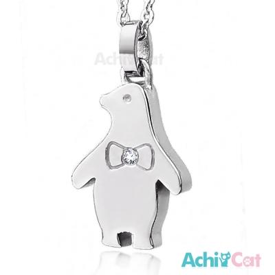 AchiCat 珠寶白鋼項鍊 企鵝國度