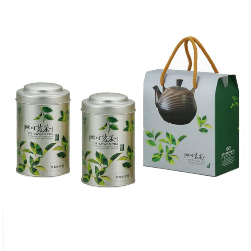 『台灣烏龍茶』嚴選阿里山金萱茶75g(共6罐)