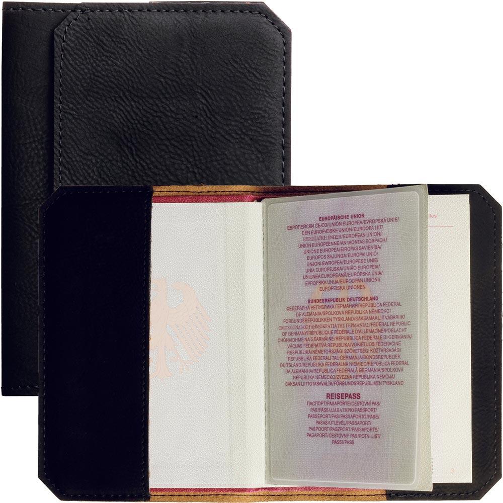 REFLECTS Godean荔枝紋護照夾(黑)