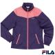 FILA女款平織外套(藍紫*亮桃色) 5JK