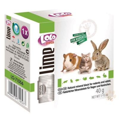 LoLo 小動物礦物質磨牙石(原味)40g 2入