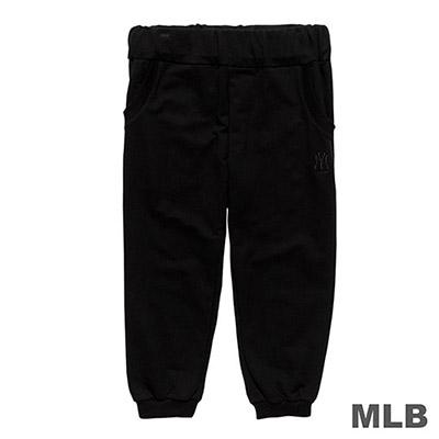 MLB-紐約洋基隊LOGO繡花束口七分褲-黑 (女)