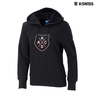 K-Swiss KSAC Fleece Hoodie印花連帽上衣-女-黑