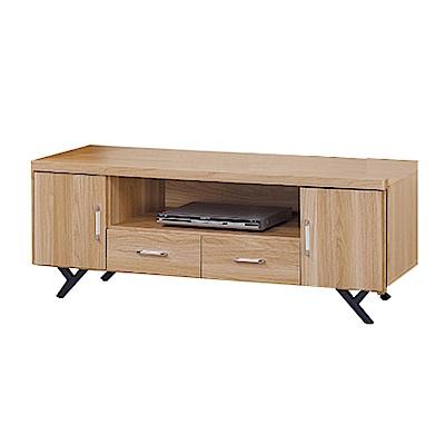 品家居 柏莫萊4.9尺橡木紋長櫃/電視櫃-147x40x52cm免組
