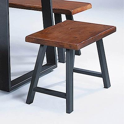 H&D 卡啦淺胡桃2尺短凳 (寬60X深32X高46cm)